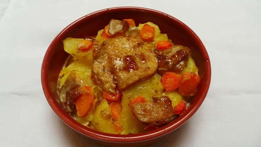 Gratin dauphinois carottes, foie Gras, et confiture de Figues