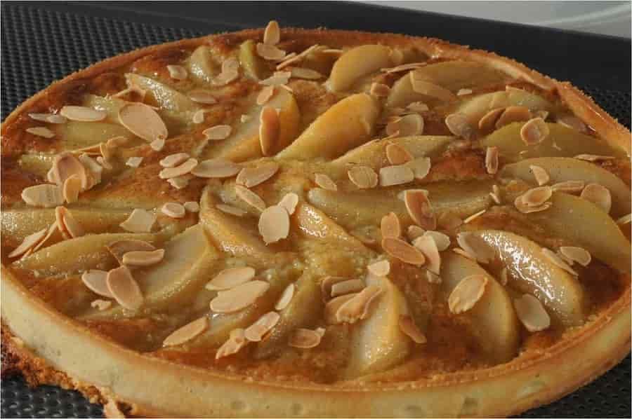 Recette: Tarte aux poires à la crème d'amande