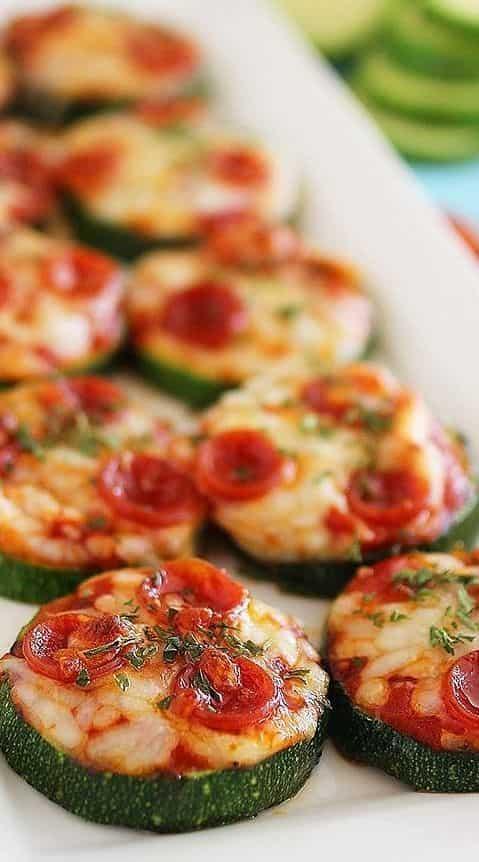 Recettes santé - pizzas de courgettes rapide facile délicieuse