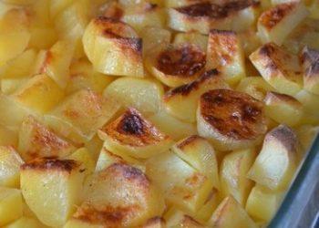 Gratin de pommes de terre au lait et parmesan cuit à l'omnicuiseur