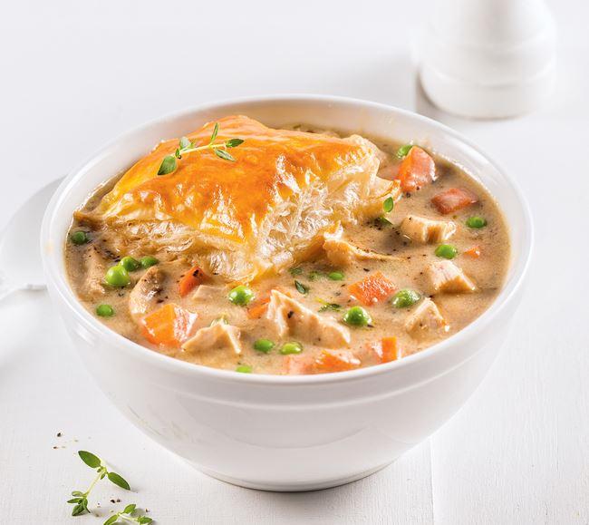 Soupe style pâté au poulet