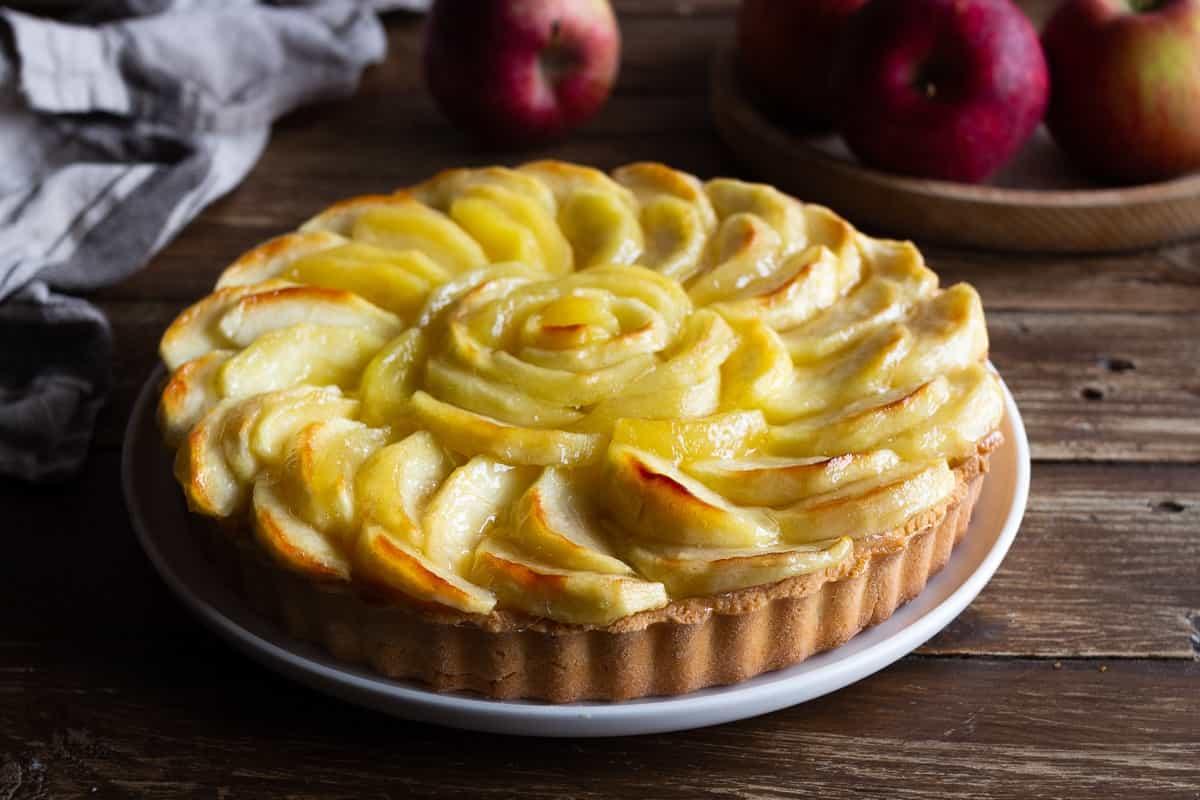 Tarte aux pommes à la crème