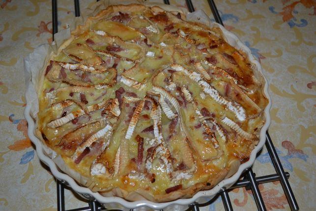 Tarte pomme de terre camembert lardons