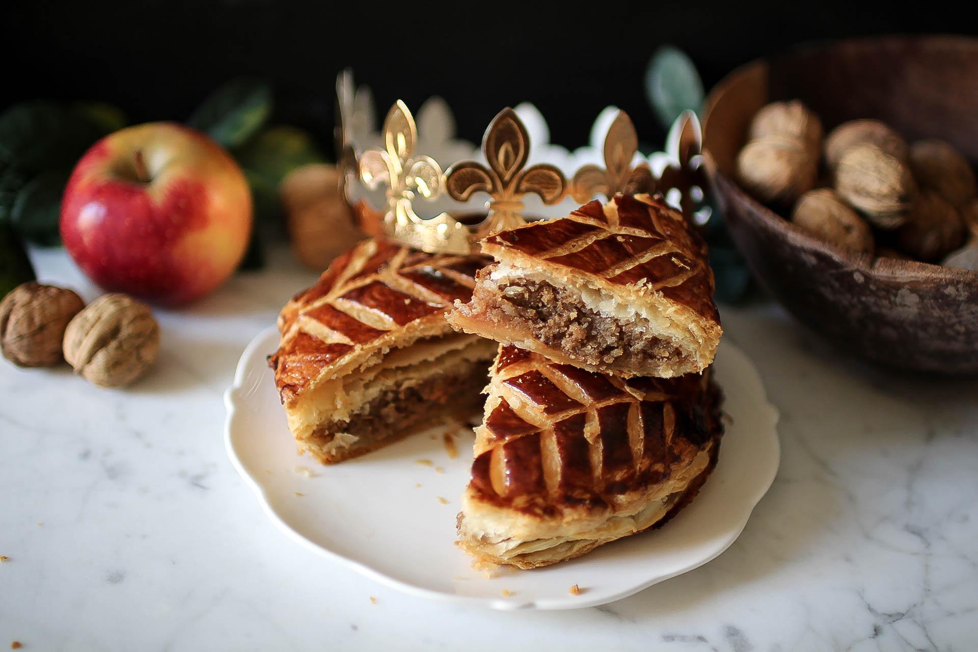 Galette des rois aux noix et aux pommes