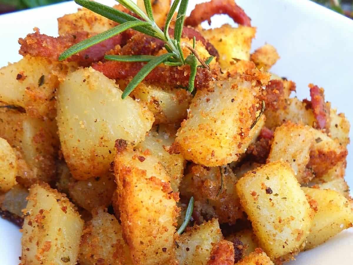 Pommes de terre sablées au bacon