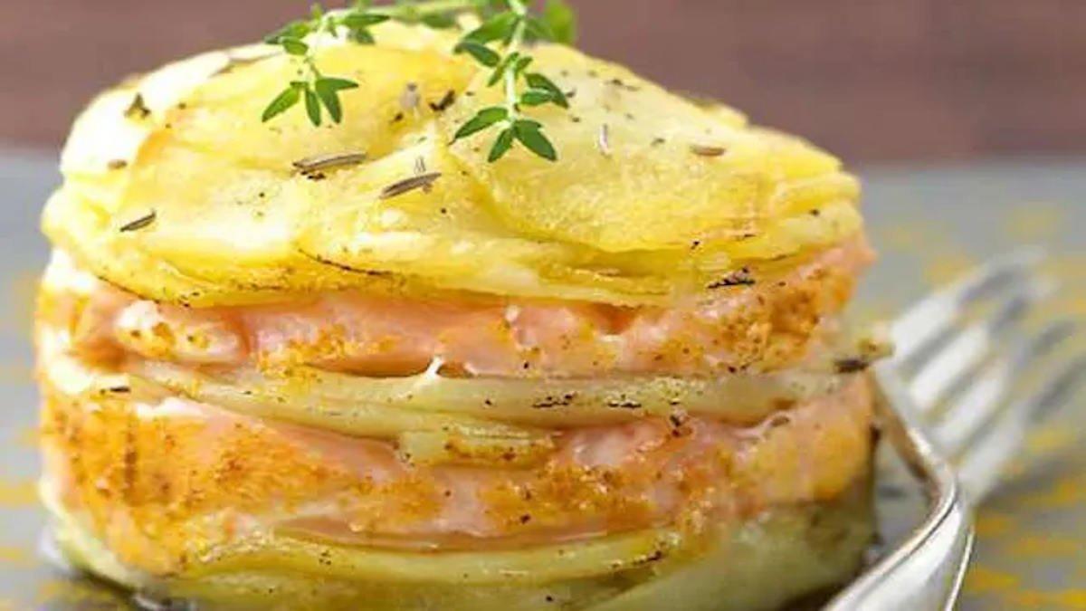 Saumon et pommes de terre au four