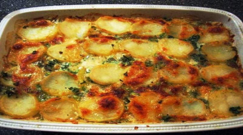 Gratin de pommes de terre normand