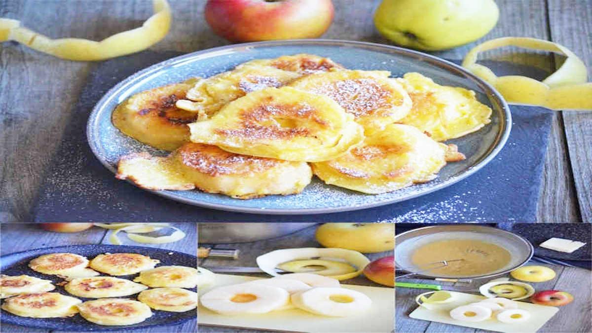 Beignets léger de pommes sans friture