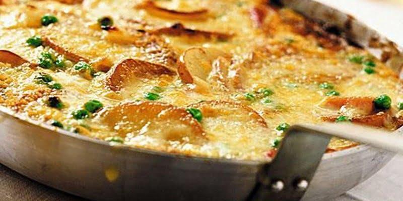 Omelette de pomme de terre aux champignons