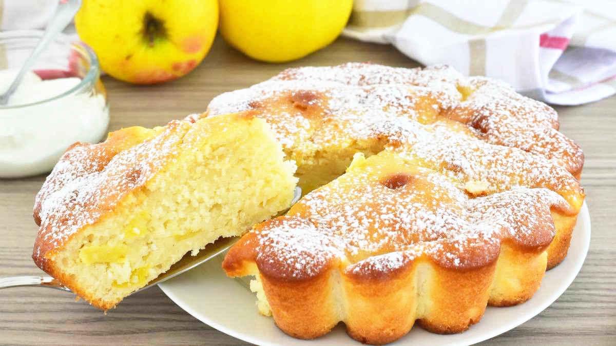 Gâteau pommes ricotta et yaourt