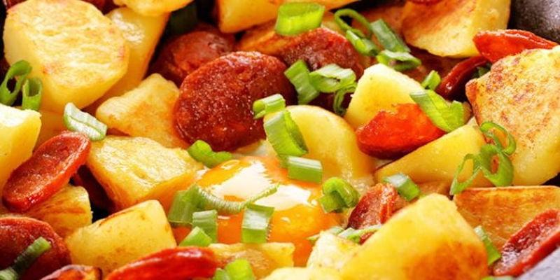 Pommes de terre sautées à l'oeuf