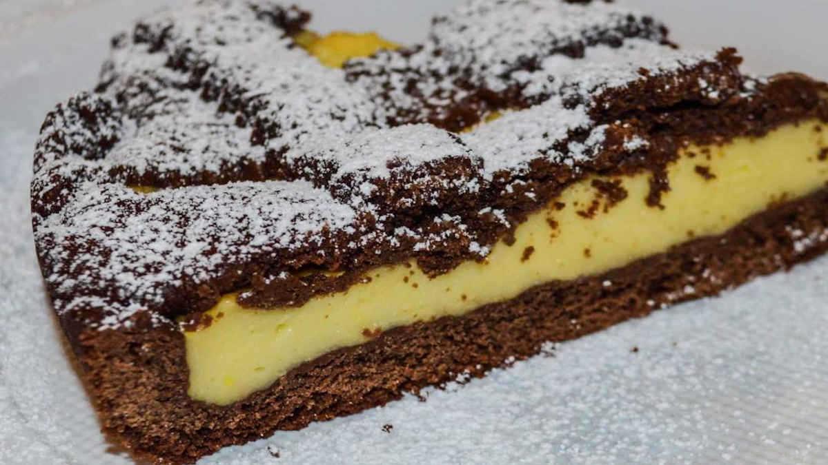 Gâteau au chocolat fourrée de crème
