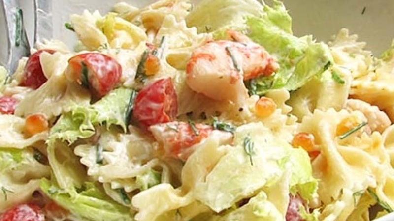 Salade de Farfalles aux Crevettes