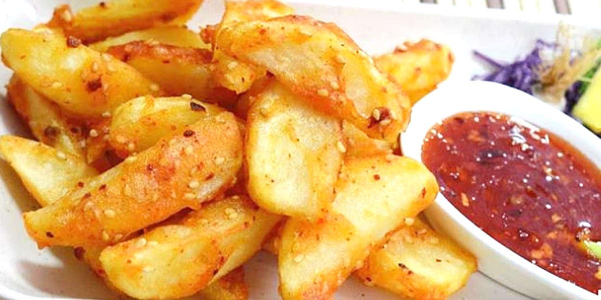 Quartiers de pommes de terre croquants