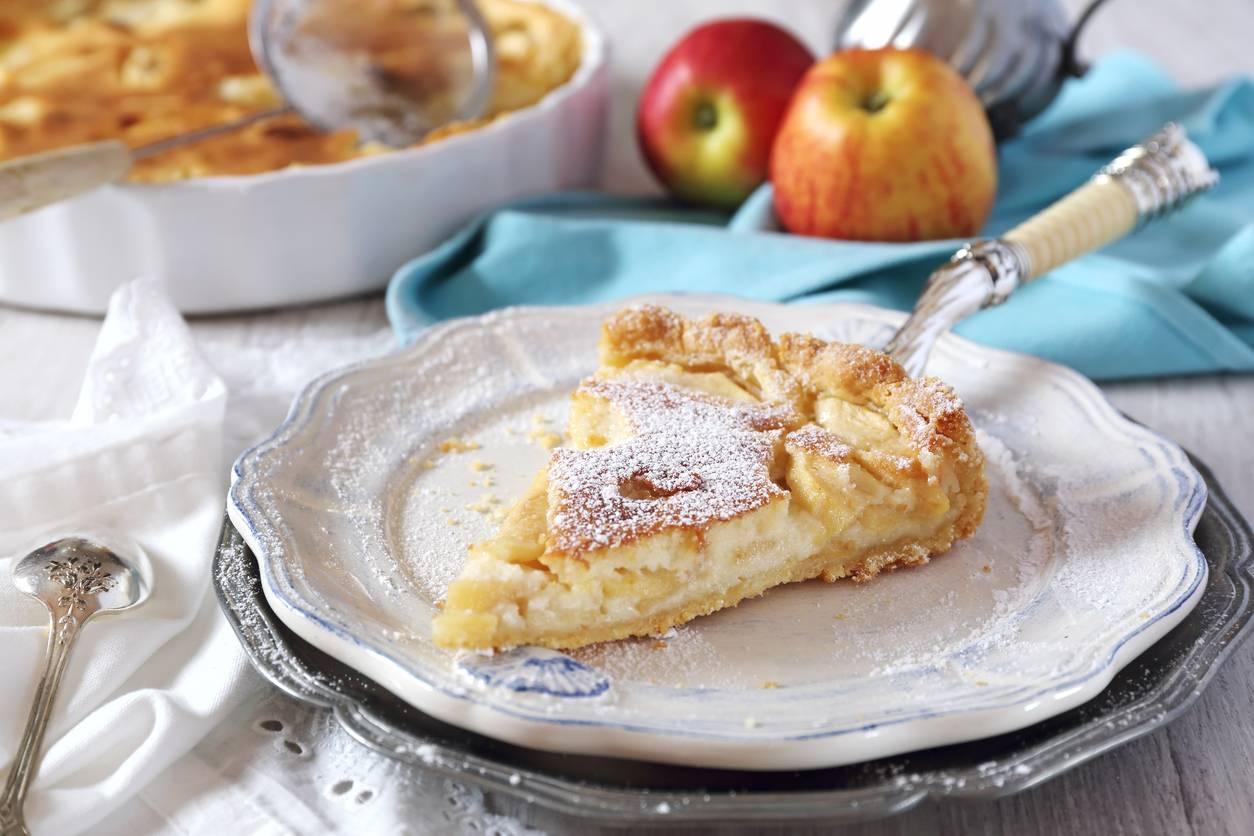 Gâteau croquant aux pommes