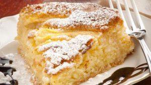 Le gâteau aux pommes onctueux