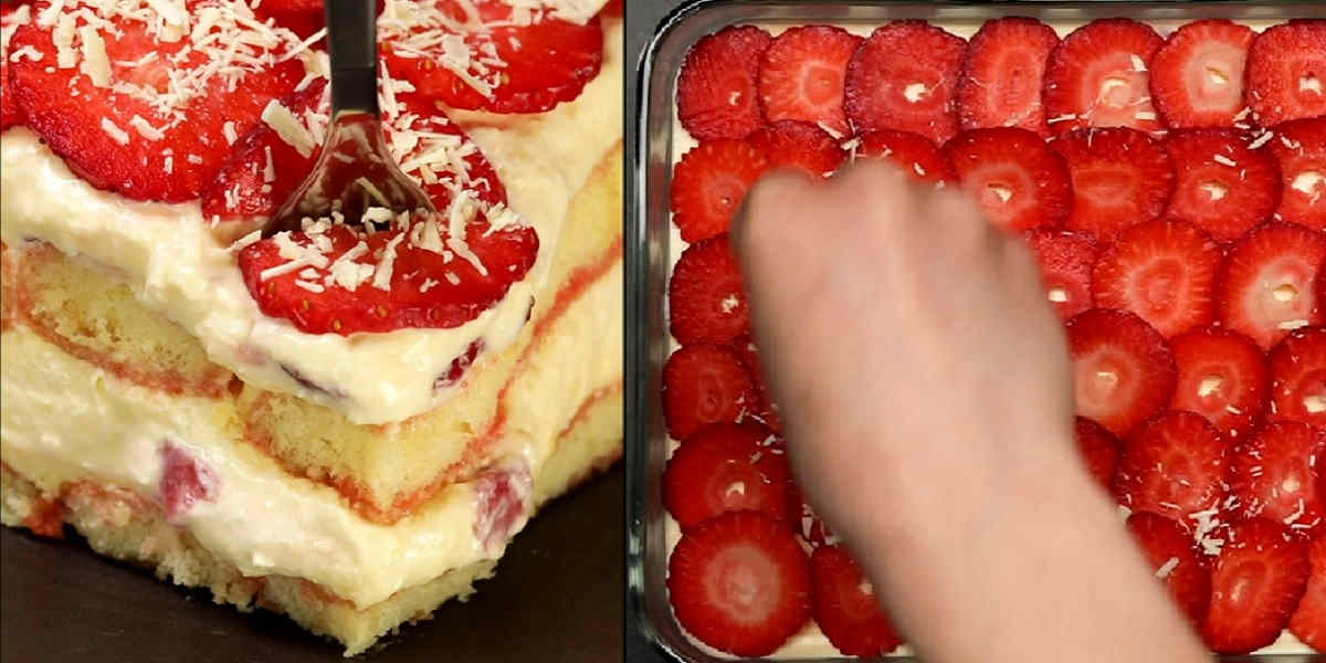 Tiramisu fraise et chocolat blanc