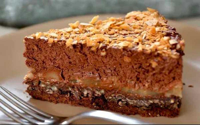 Gâteau chocolat poire crousti-fondant