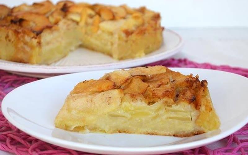 Gâteau aux pomme à la crème