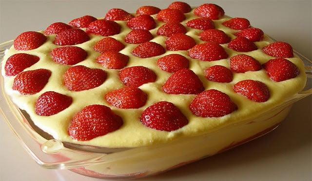 Tiramisu gourmand aux fraises