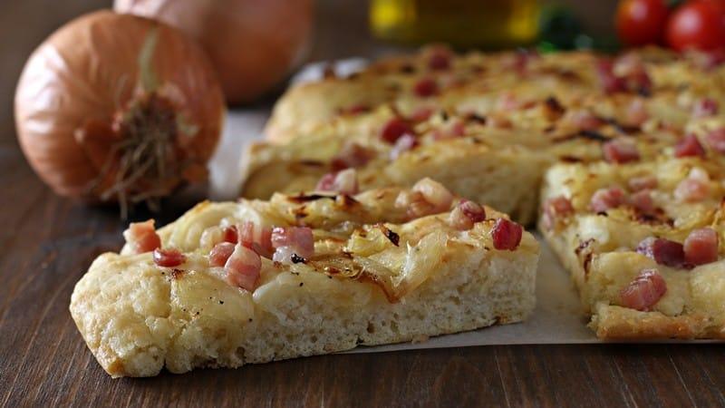 Focaccia aux oignons sans pâte