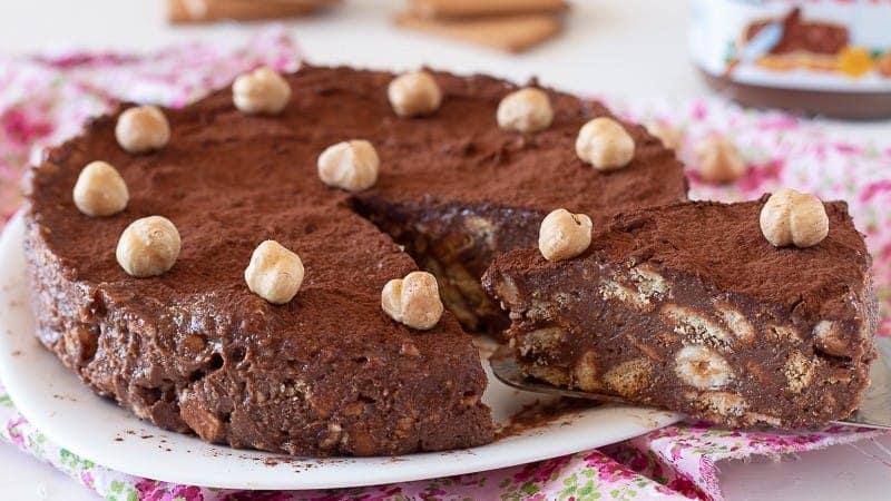 Gâteau aux biscuits au Nutella