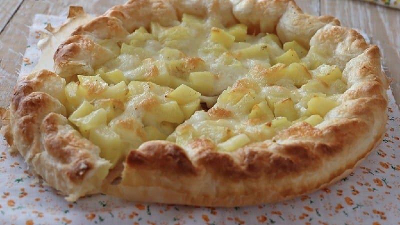 Tarte salée aux pommes de terre et mozzarella