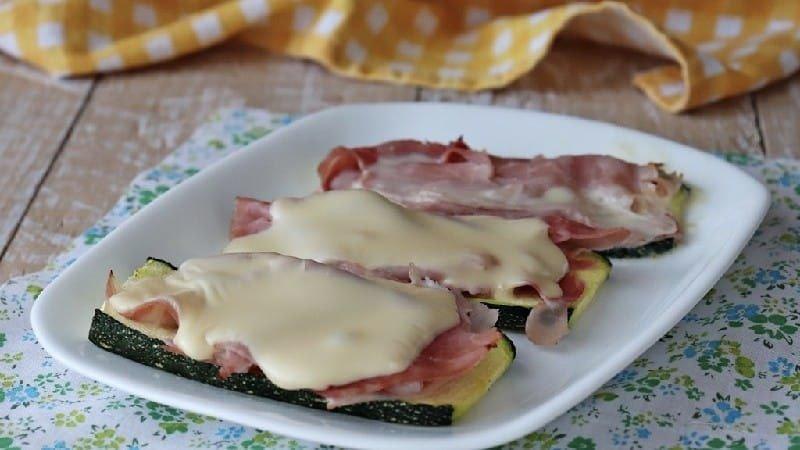 Courgettes au jambon et fromage