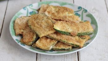 Escalopes de courgettes cuites au four