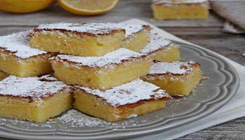 Brownies au citron sans gluten