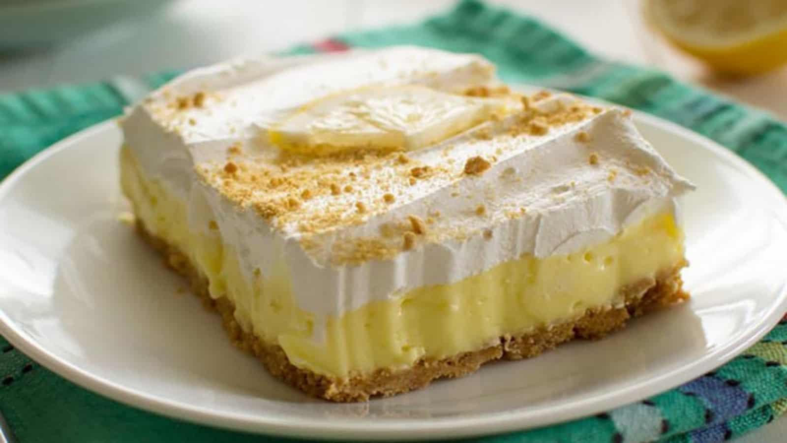 Gâteau au citron sans cuisson et presque trop facile