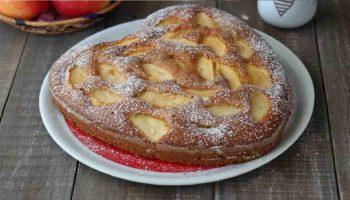 Gâteau aux pommes au lait