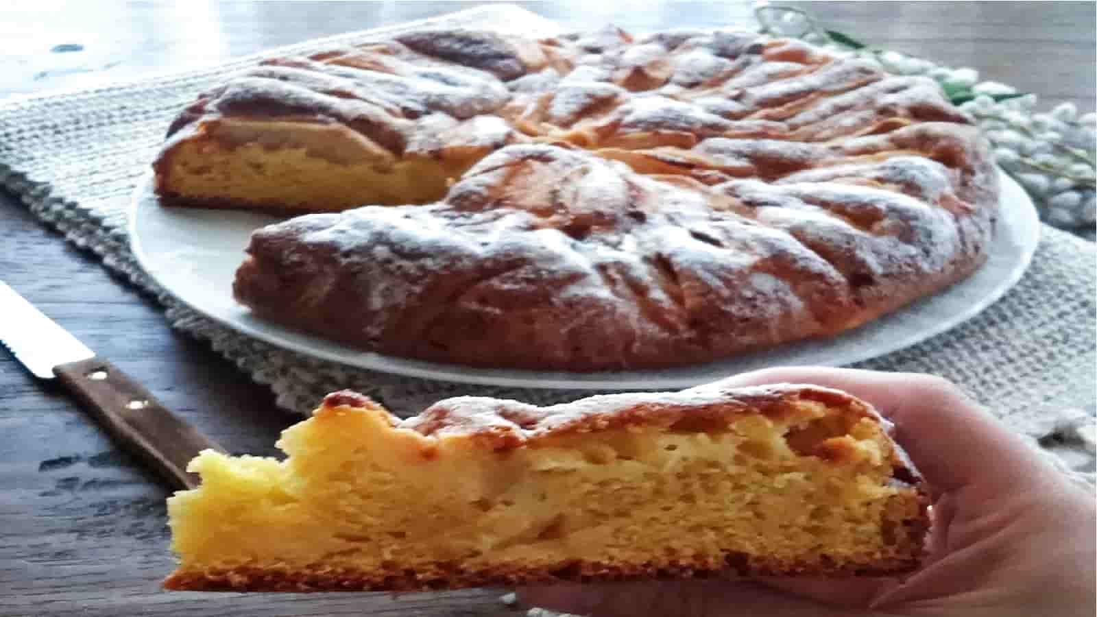 Gâteau moelleux au mascarpone et aux pommes
