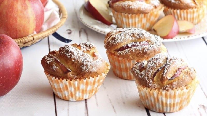 Muffins sucrés aux pommes sans gluten