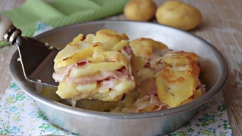 Parmigiana aux pommes de terre et jambon
