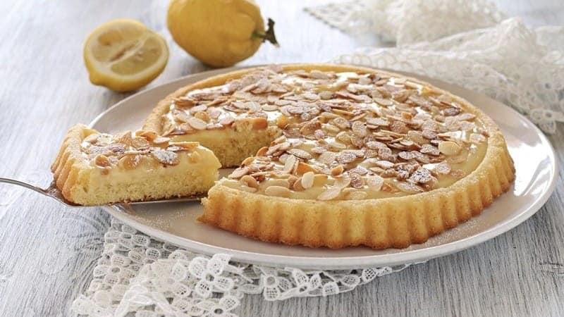 Tarte à la crème de citron et d'amande