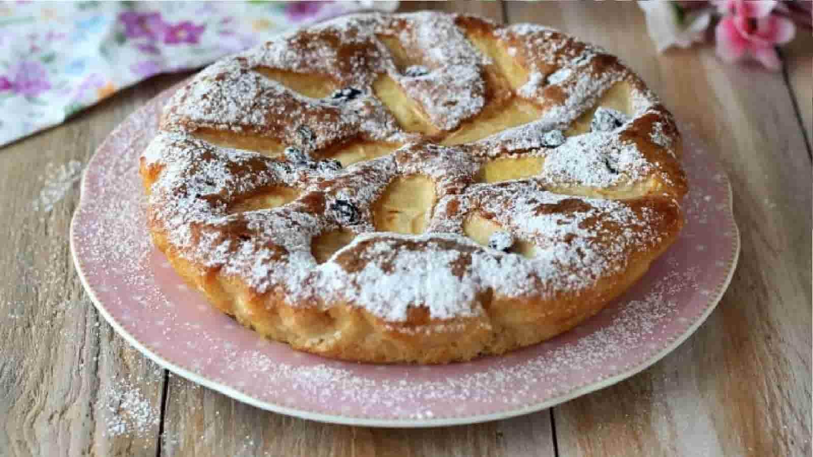 Tarte aux pommes sans œufs et sans beurre