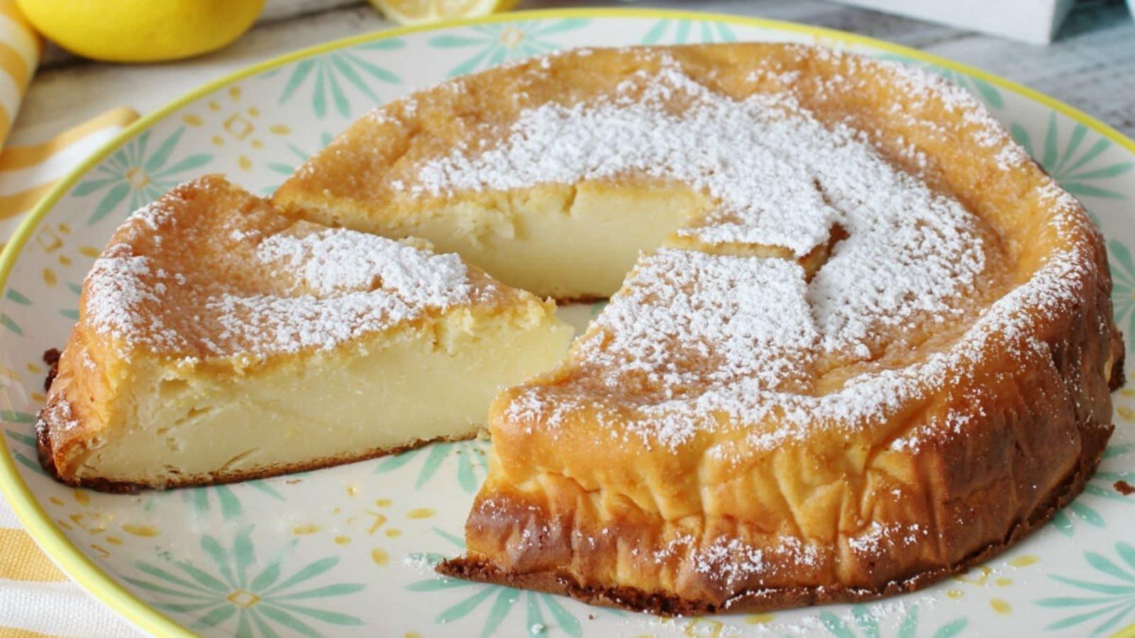 Gâteau au citron sans farine et sans levure prêt en 5 minutes