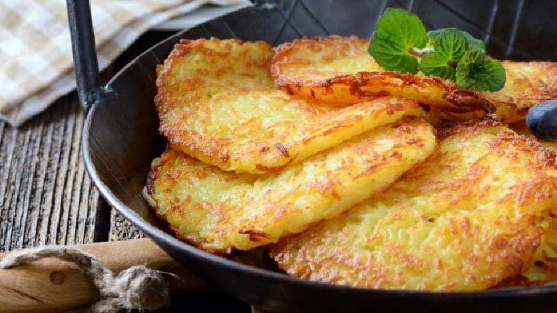 Crêpes de pommes de terre très moelleux