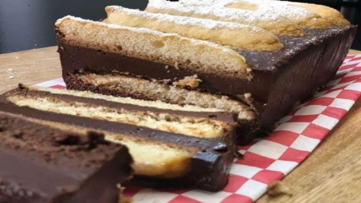 Gâteau au chocolat sans cuisson avec seulement 4 ingrédients