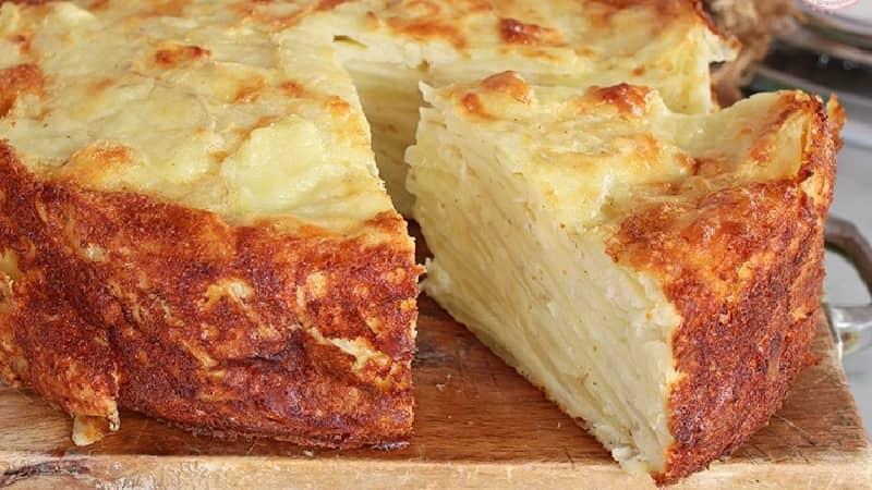 Gâteau aux pommes de terre invisible