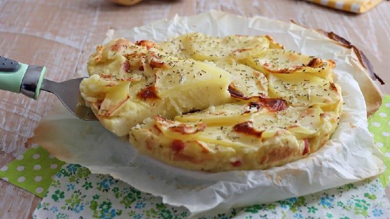 Gâteau moelleux aux pommes de terre