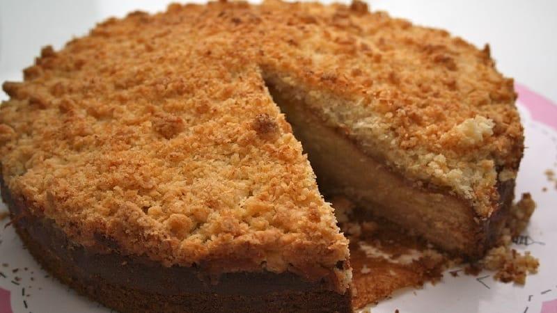 Gâteau pommes et coco