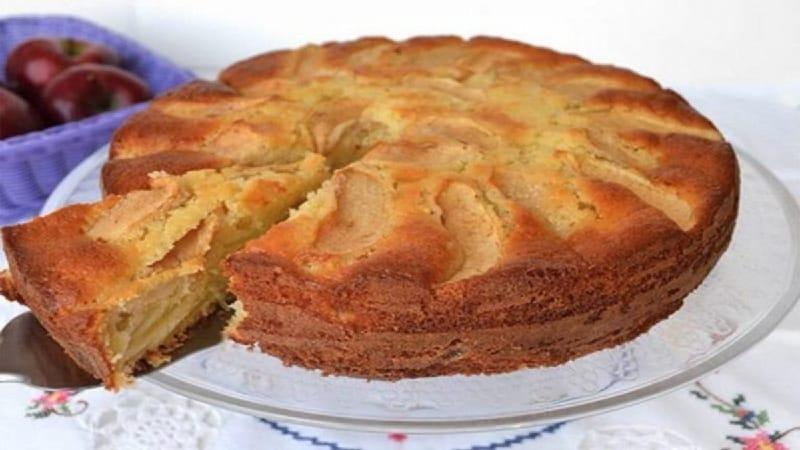 La tarte aux pommes légère