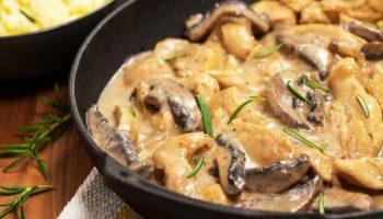 Blanquette de poulet aux champignons