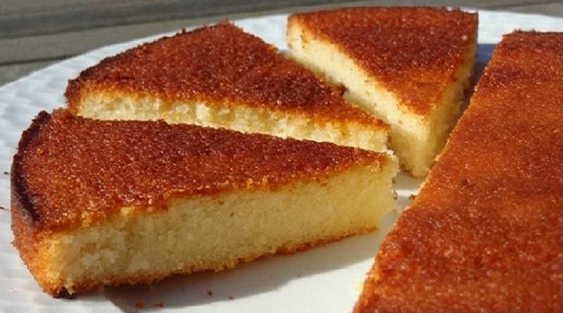 Gâteau aux blancs d'oeufs au Citron Vanille et Amande