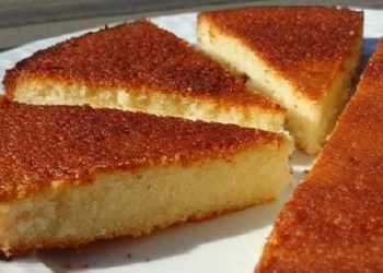 Gâteau aux blancs d'oeufs au Citron Vanille