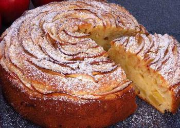 Gâteau aux pommes au citron et au mascarpone